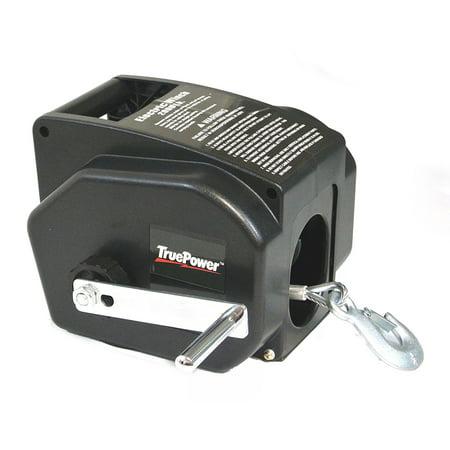 TruePower 2000 lb Line, 5000 lb Boat, 12 V DC Portable Winch w. Wireless Remote Control