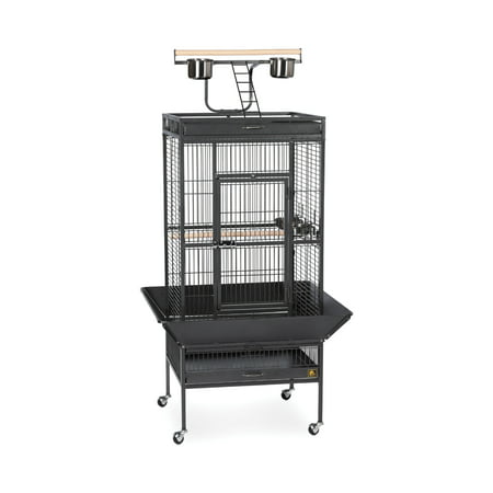 Iron Birdcage - Prevue Select Wrought Iron Parrot Bird Cage 24x20x60