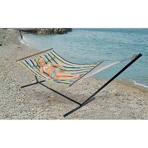 Stansport Double Cotton Hammock with Stand