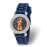 Incredibles Bob Parr Boys' Grey Plastic Time Teacher Watch, Duck Blue Silicone Strap