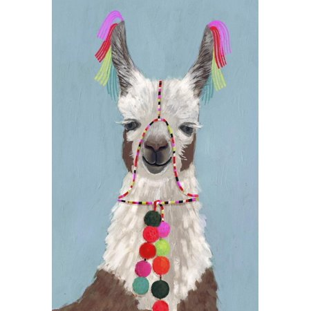 Adorned Llama I Print Wall Art By Victoria Borges