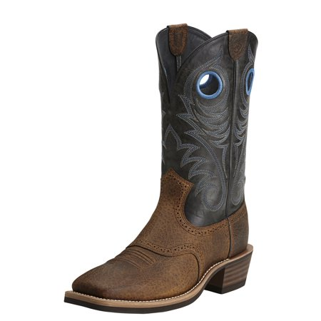 Ariat Men's Heritage Rough Stock Cowboy Boot Wide Square Toe - 10014024 Ariat Heritage Field Boot