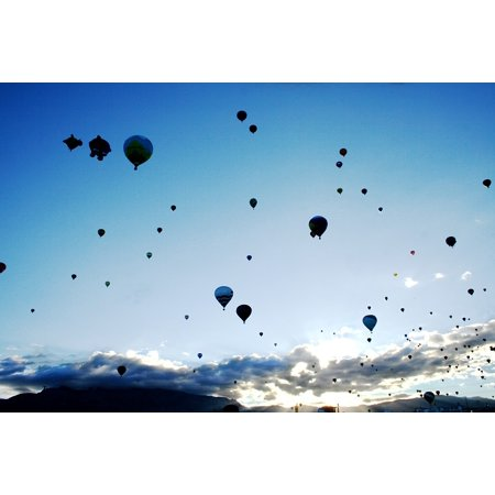 Framed Art for Your Wall Sky Balloons Balloon Fiesta Flying Hot Air Balloons 10x13 - Hot Air Balloon Pins For Sale