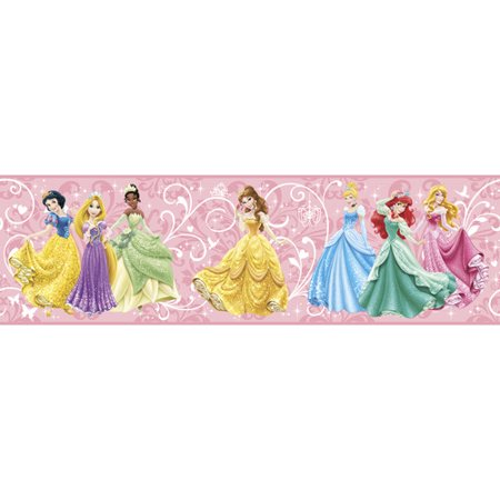York Wallcoverings Walt Disney Kids II 9'' True Princess Border Wallpaper
