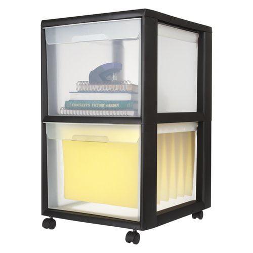 Sterilite 2-Drawer File Cart, Black - Walmart.com