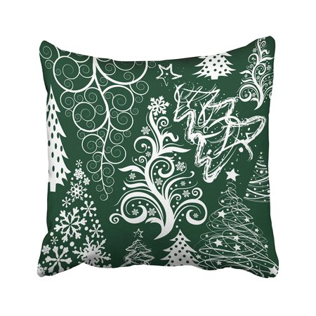 BPBOP Festive Holiday Green Christmas Trees Xmas Pillowcase 20x20 inch ()