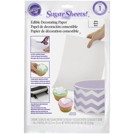 Wilton Sugar Sheets! Edible Cake Decorating Paper, White (Cake Decorating Halloween)