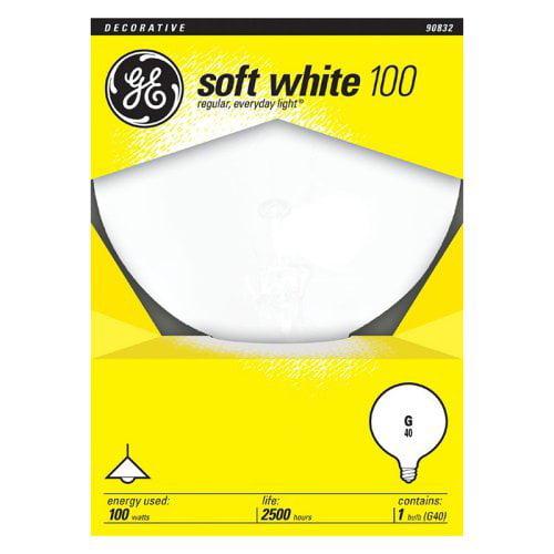 GE Lighting 100W Vanity Globe Light Bulb - 6 pk.