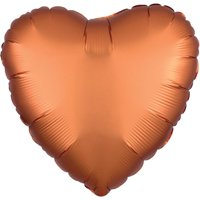 Loftus International A3-8581 18 in. Amber Heart Satin Luxe Hx Balloon