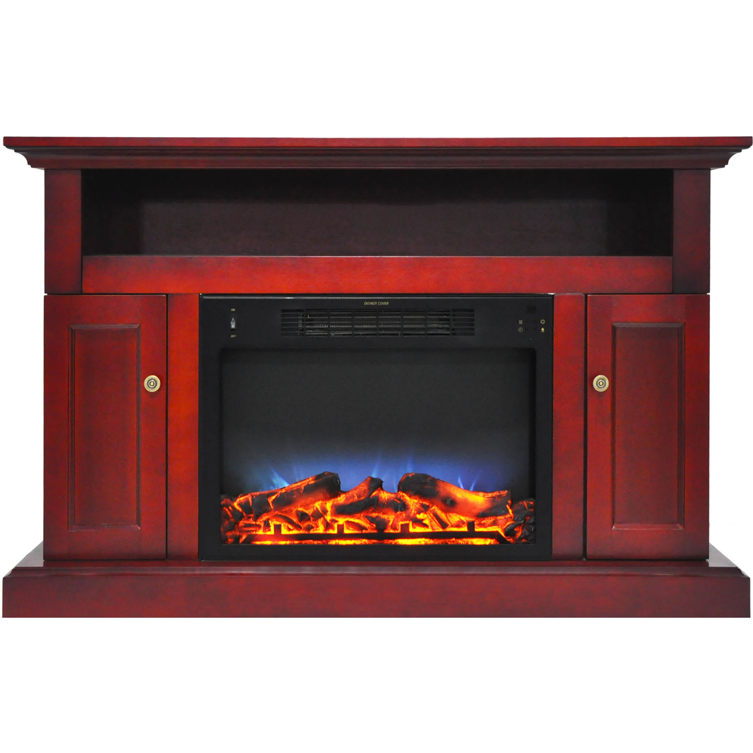"Cambridge Sorrento Electric Fireplace Heater with 47"" Entertainment Stand and Multi-Color LED Flame Display"