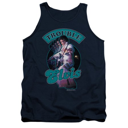 Elvis Presley The King Rock Total Trouble Adult Tank Top Shirt