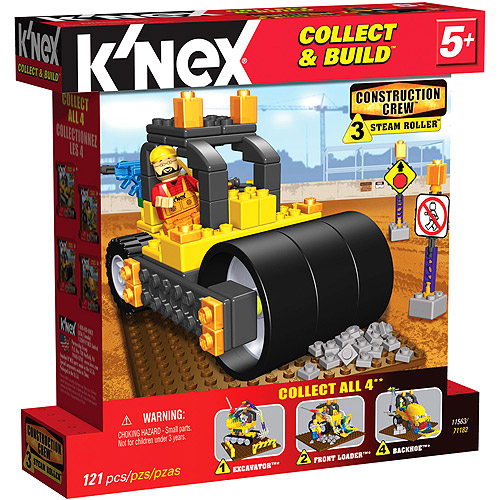 KNEX Construction Crew Steam Roller Knex Building Set by