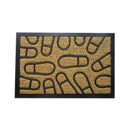 Amber Home Goods Footprint Floormat Size 30 x 18