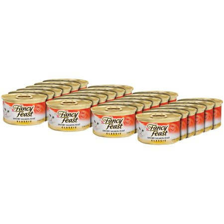 (24 Pack) Fancy Feast Classic Savory Salmon Feast Wet Cat Food, 3 oz. Cans](Halloween Savory Food)