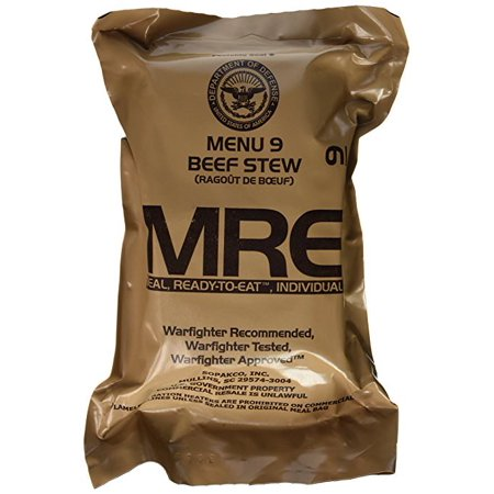 MRE (Meals Ready-to-Eat) Genuine US Military Surplus w  Menu Selections -  Walmart.com 8a0eb576c0
