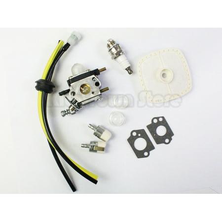 AOOLIVE Carburetor for Zama C1U-K54A Mantis Tiller 7222 Echo 12520013123 Carb Fuel Line