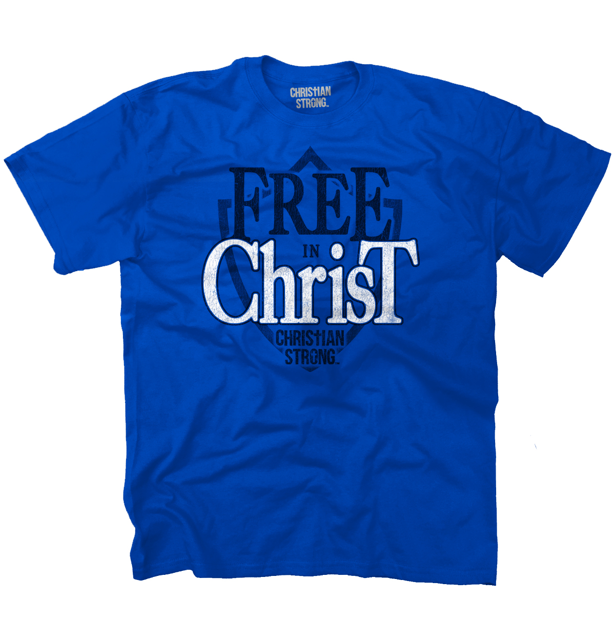 Christian T Shirt Free Christ Shield Jesus Christ Faith Religion Tee by Christian Strong