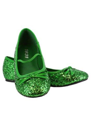 Ellie Shoes E-013-Ballet-G 0 Heel Ballet Slipper with glitter Children M 13/1