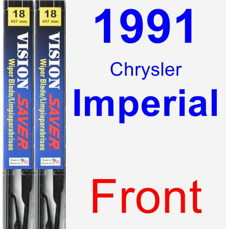 1991 Chrysler Imperial Wiper Blade Set/Kit (Front) (2 Blades) - Vision Saver