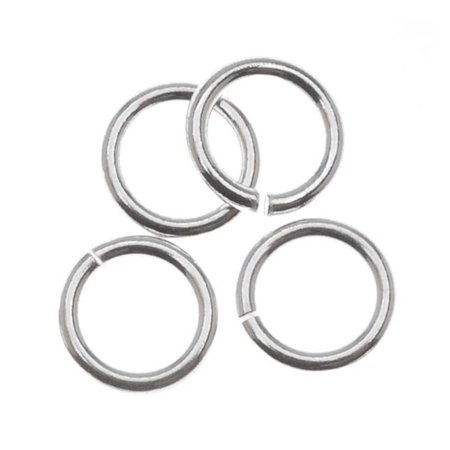 Sterling Silver Open Jump Rings 5mm 19 Gauge (10) ()