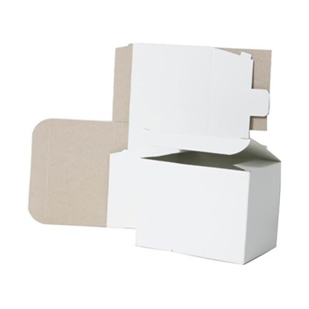 JAM Paper® Open Lid Gift Boxes - 5 x 5 x 3 - White - Sold