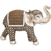 Decmode Polystone Elephant, Multi Color