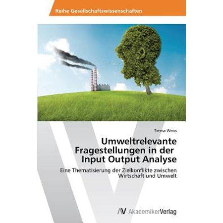 Umweltrelevante Fragestellungen in Der Input Output