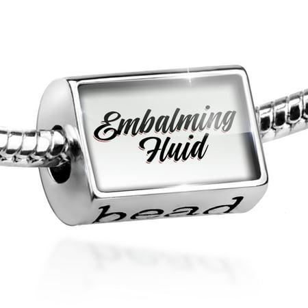 Bead Vintage Lettering Embalming Fluid Charm Fits All European Bracelets](Vintage Fitz And Floyd Halloween)