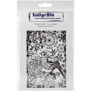 "IndigoBlu Cling Mounted Stamp, 5"" x 4"", Rockin Robin"