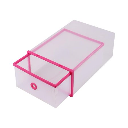 Yosoo 5pcs boîte à chaussures en plastique, boîte à chaussures, empilable style simple boîte à chaussures en plastique clair maison boîtes de rangement bureau tiroir organisateur - image 4 de 8