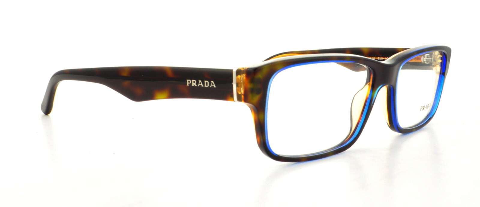 c4a6e645261a Prada 0PR 16MV Optical Full Rim Rectangle Unisex Eyeglasses - Size 53  (Denim   Clear Lens) - Walmart.com