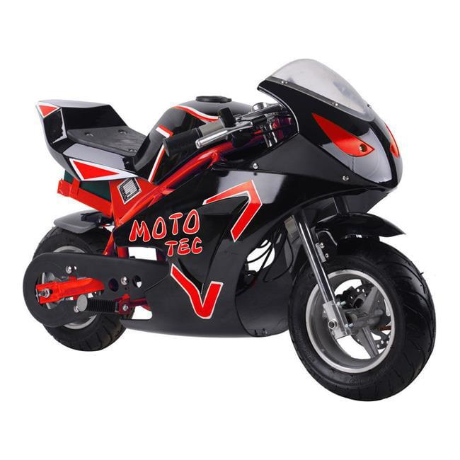 MotoTec MT-Elec-GT-Red 36V Electric Pocket Bike GT, 500W ...