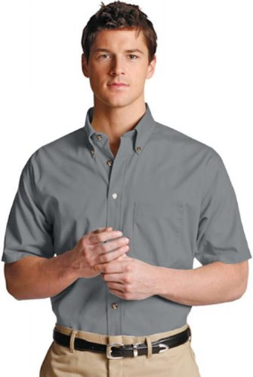 Edwards Garment Mens Casual Wrinkle Resistant Short Sleeve Poplin Shirt