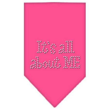 Its All About Me Rhinestone Bandana Bright Pink Large - Green Bandanna