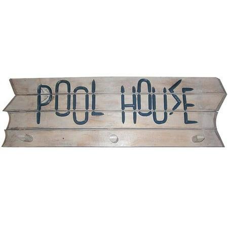 Horse Wood Rack - Highland Dunes Pool House Towel Rack Wood Wall D cor