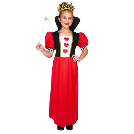 Girl's Fairytale Queen of Hearts (Children's Queen Of Hearts Costume Australia)