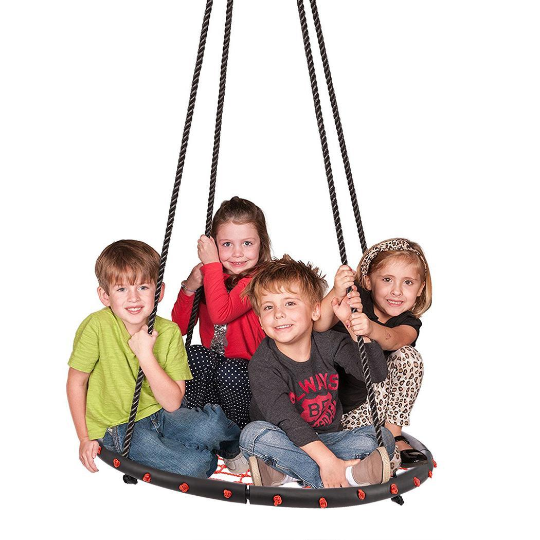 "Black Friday SALES Smartdeal 40"" Kids Round Rope Tire Tree Web Net Swing Nest Outdoor 3color  SMT"
