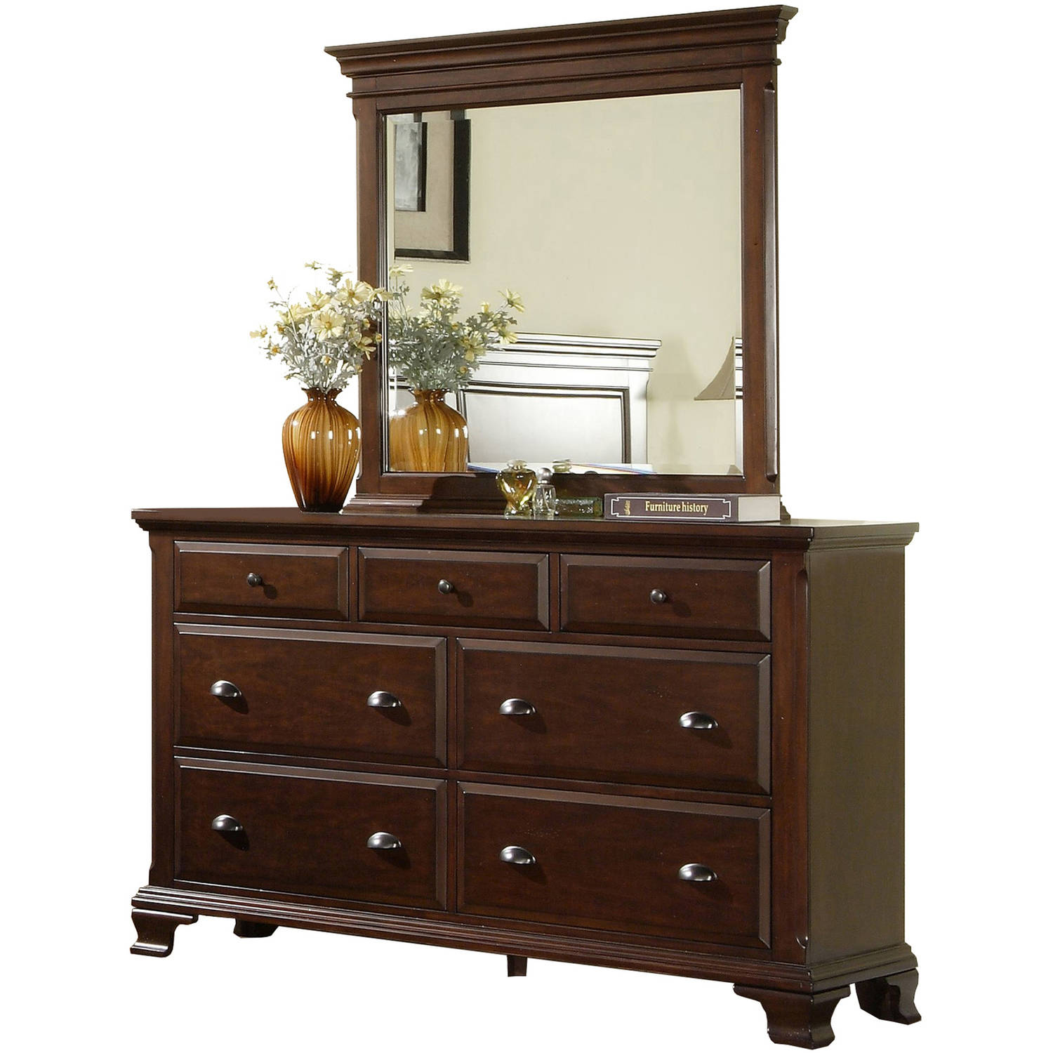 Picket House Furnishings Brinley Cherry Dresser and Mirror Set
