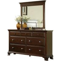 Picket House Furnishings Brinley Cherry Dresser and Mirror Set