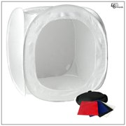 """24"""" Tabletop Product Photo Collapsible Light Tent Cube Box with Multiple Color Backdrops in Red, Black, White, Blue by Loadstone Studio  WMLS0075"""