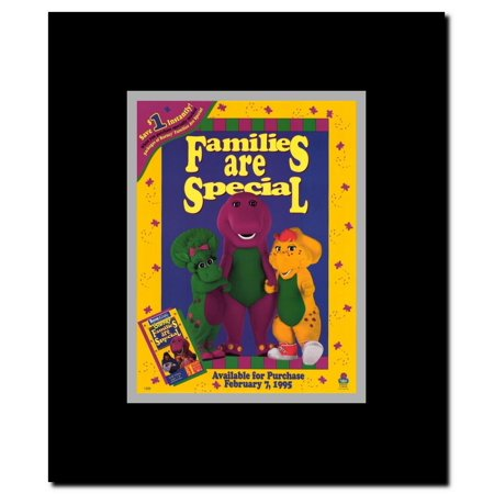 Barney: Families Are Special Framed Movie Poster