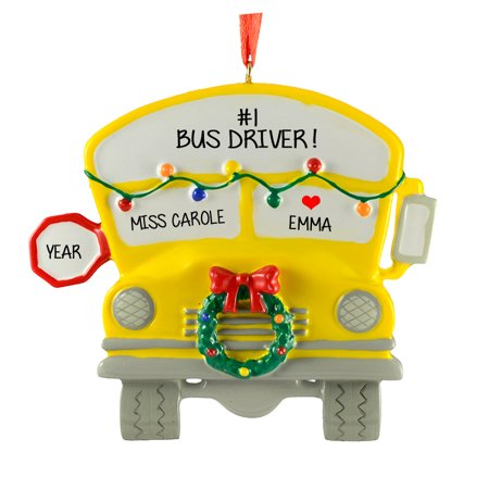 School Bus Personalized Christmas Ornament DO-IT-YOURSELF