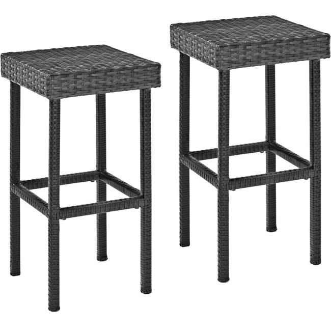 Palm Harbor Outdoor Wicker 29 in. Bar Height Stools - Grey