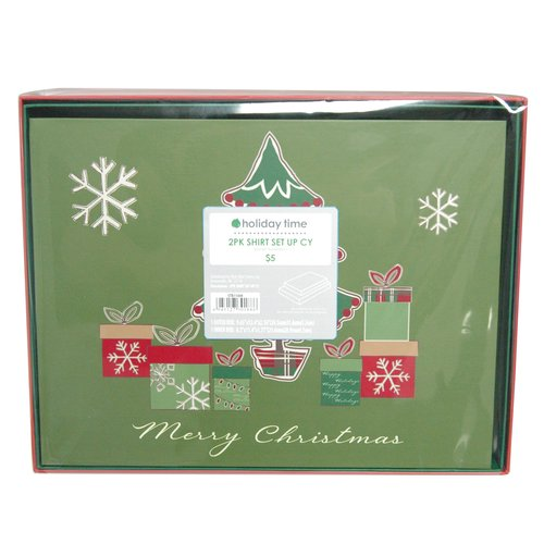 Traditional Snowman Shirt Box, 2 Pack
