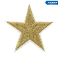 KABOER Five Pointed Star Parches Embroidery Iron On Patches For Clothing Diy Stripes Appliques Badges