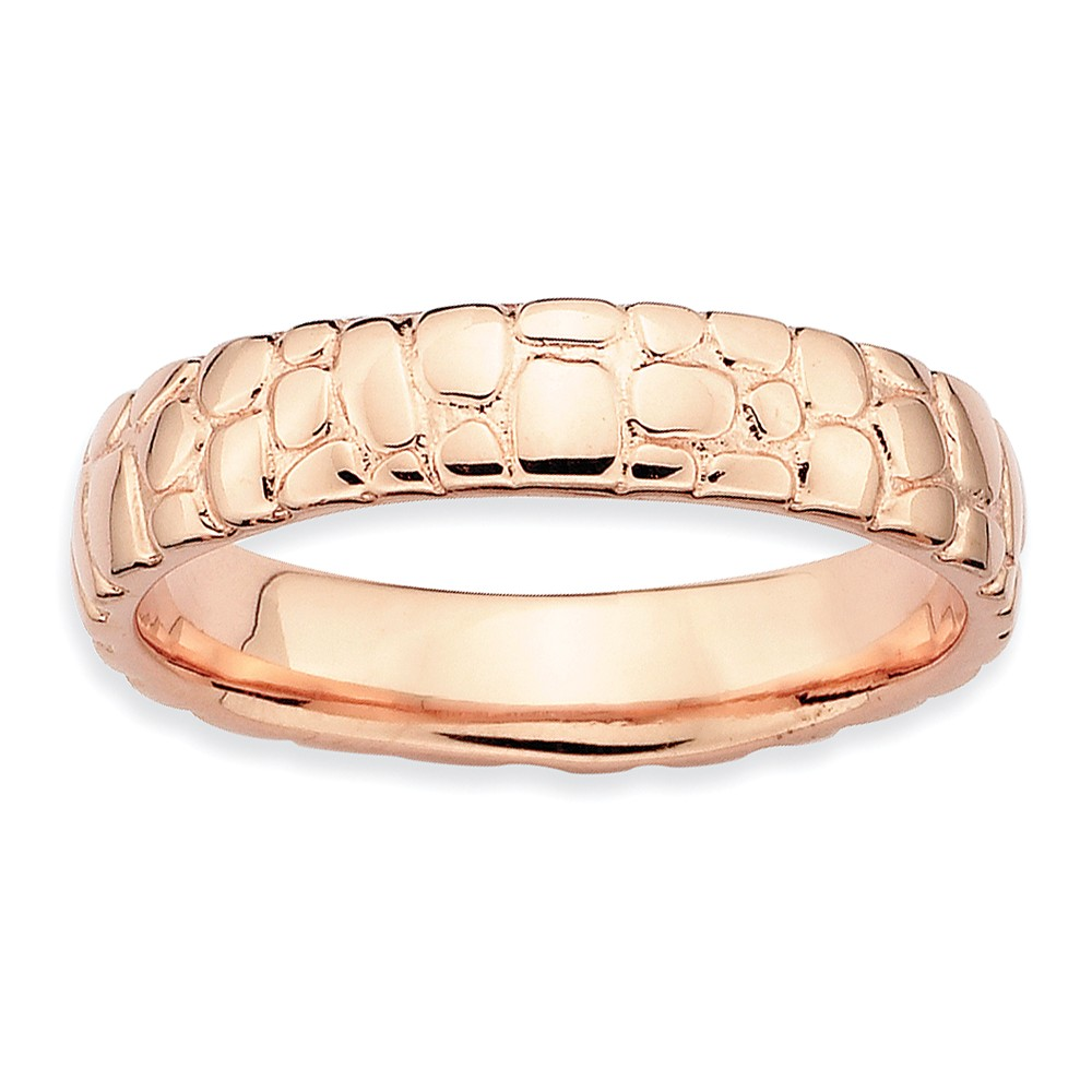 ICE CARATS 925 Sterling Silver Pink Plated Band Ring Size 5.00 Stackable Fancy/ Fine Jewelry Ideal Gifts For Women Gift Set From Heart