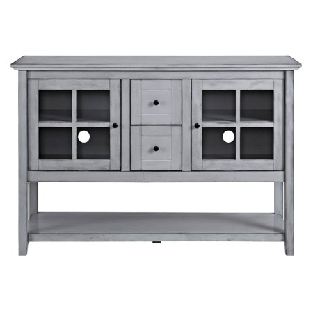 Walker edison wood 52 in console table buffet tv stand for Table stand i 52 compose