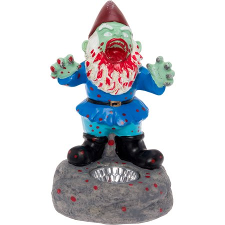 Zombie Yard Gnomes (GreenLighting Solar Scary Zombie Garden Lawn Gnome Horror Novelty Statue)