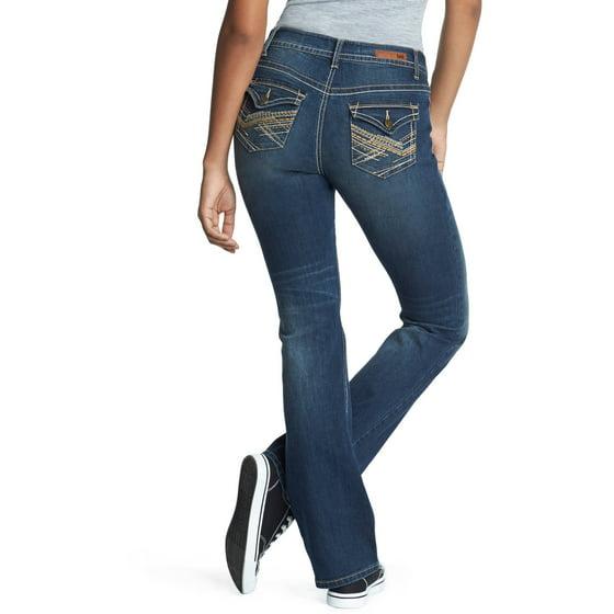 a1e415056c5 L.e.i. - Juniors  Bridget Curvy Bootcut Jeans - Walmart.com