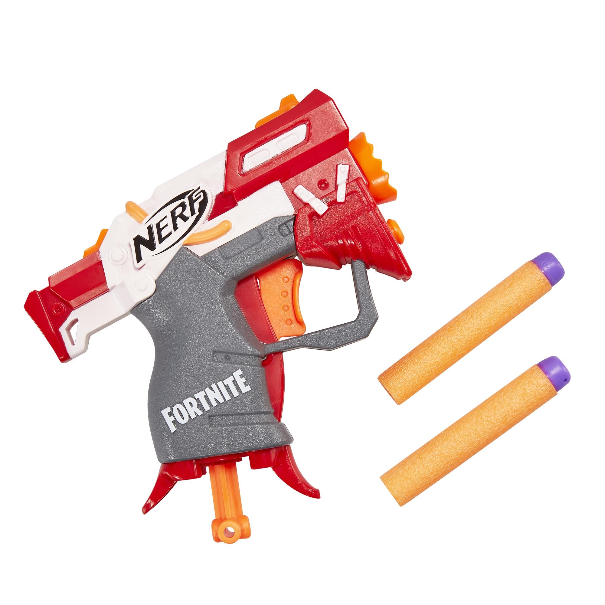 Nerf Fortnite TS Nerf MicroShots Dart-Firing Toy Blaster and 2 Official Nerf Elite Darts
